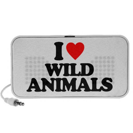 I LOVE WILD ANIMALS iPhone SPEAKERS
