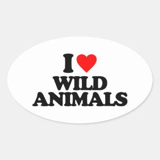 I LOVE WILD ANIMALS STICKER