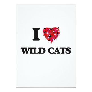 I love Wild Cats 13 Cm X 18 Cm Invitation Card