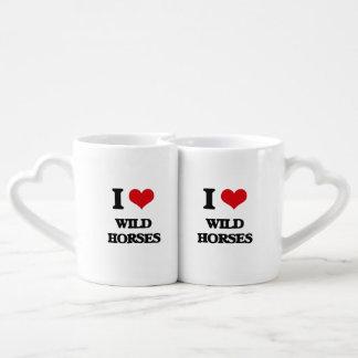 I love Wild Horses Lovers Mug Set