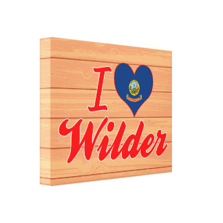 I Love Wilder Idaho Gallery Wrapped Canvas
