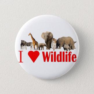 I love wildlife 6 cm round badge