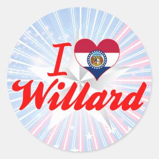 I Love Willard, Missouri Round Stickers