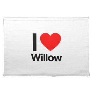 i love willow placemat
