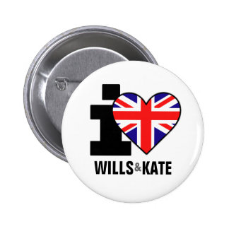 I Love Wills & Kate Button