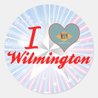 I Love Wilmington, Delaware Classic Round Sticker