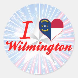I Love Wilmington, North Carolina Round Sticker