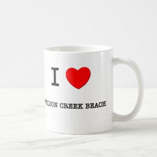 I Love WILSON CREEK BEACH Coffee Mugs