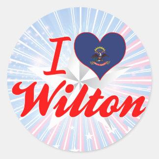 I Love Wilton, North Dakota Round Sticker