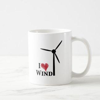 i love wind energy basic white mug