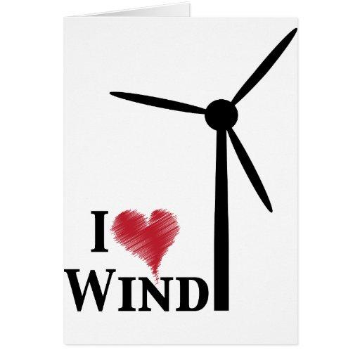 i love wind energy greeting card