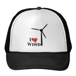 i love wind energy hats