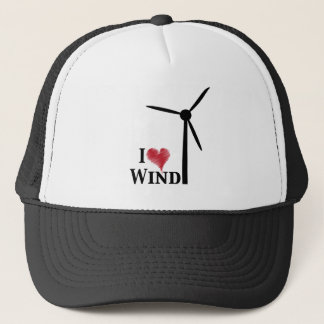 i love wind energy trucker hat
