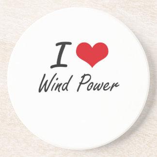 I love Wind Power Beverage Coaster