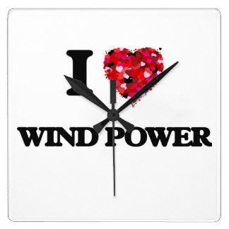 I love Wind Power Wall Clock