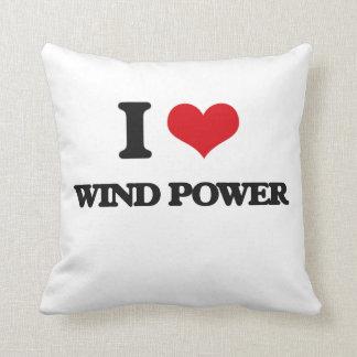 I love Wind Power Throw Pillows