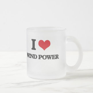 I love Wind Power Frosted Glass Mug