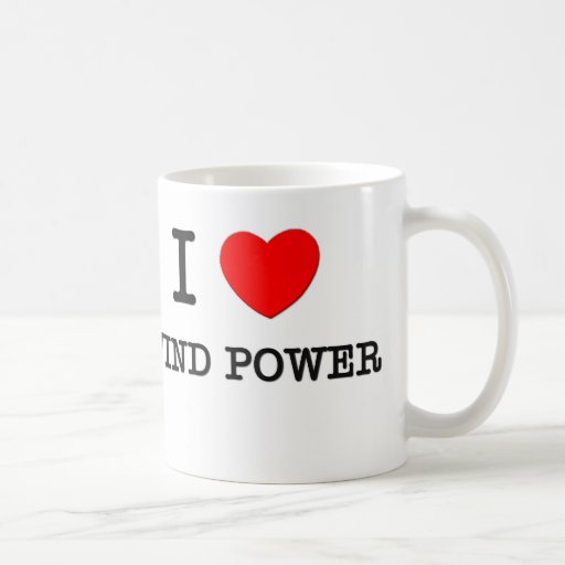 I Love Wind Power Coffee Mug