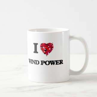 I love Wind Power Basic White Mug