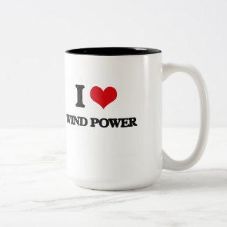 I love Wind Power Two-Tone Mug