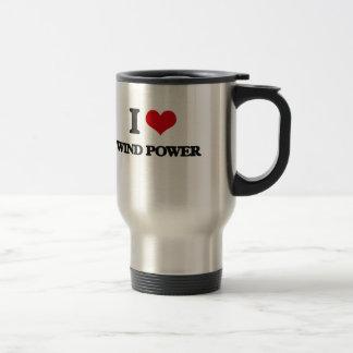I love Wind Power Stainless Steel Travel Mug