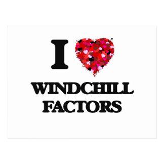 I love Windchill Factors Postcard