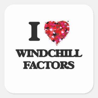 I love Windchill Factors Square Sticker