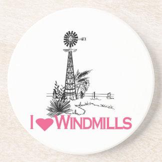 I Love Windmills Beverage Coasters