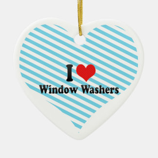 I Love Window Washers Christmas Ornament