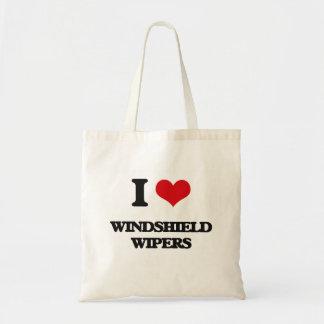 I love Windshield Wipers Budget Tote Bag