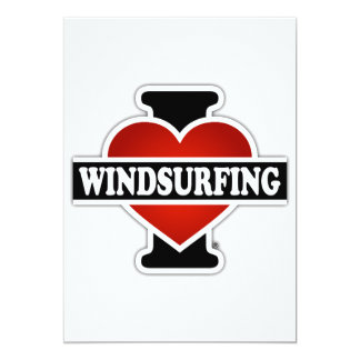 I Love Windsurfing 13 Cm X 18 Cm Invitation Card