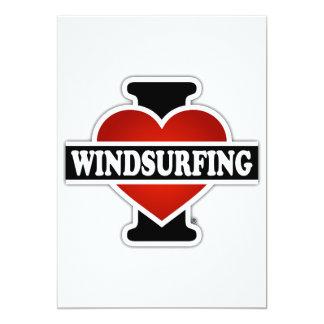 "I Love Windsurfing 5"" X 7"" Invitation Card"