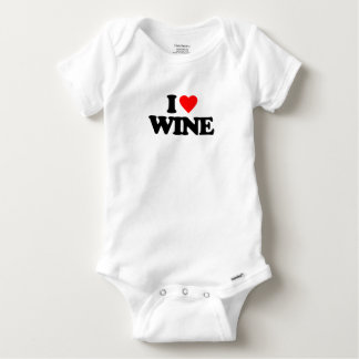 I LOVE WINE BABY ONESIE