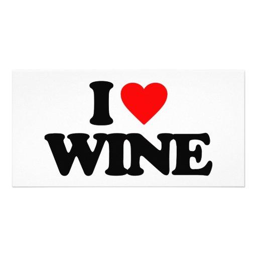 I LOVE WINE PICTURE CARD