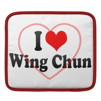 I love Wing Chun iPad Sleeve
