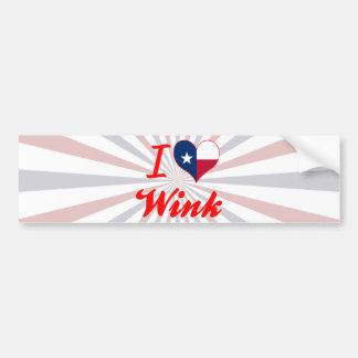 I Love Wink Texas Bumper Stickers
