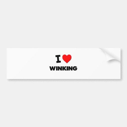I love Winking Bumper Sticker