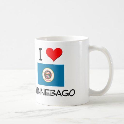 I Love Winnebago Minnesota Basic White Mug
