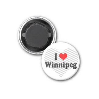 I Love Winnipeg, Canada 3 Cm Round Magnet