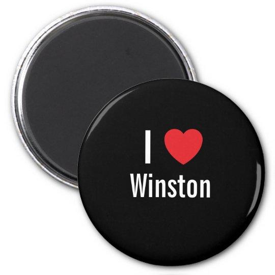 I love Winston 6 Cm Round Magnet
