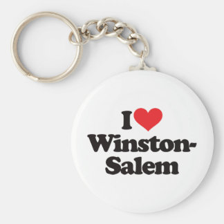 I Love Winston-Salem Basic Round Button Key Ring