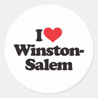 I Love Winston-Salem Round Sticker