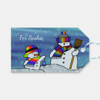 I love winter! gift tags