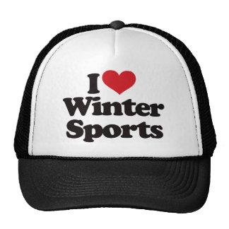 I Love Winter Sports Cap