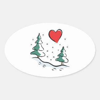 I Love Winter Sticker