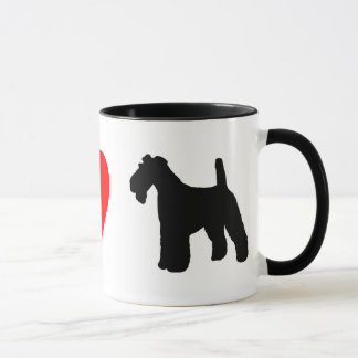 I Love Wire Fox Terriers Mug