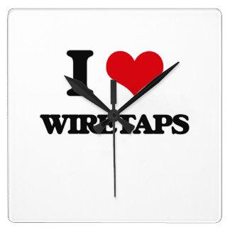 I love Wiretaps Wallclock