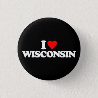 I LOVE WISCONSIN 3 CM ROUND BADGE