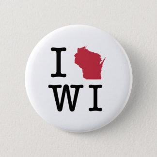 I Love Wisconsin 6 Cm Round Badge