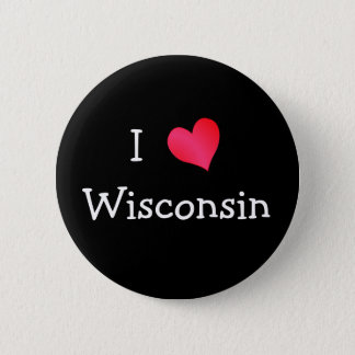 I Love Wisconsin 6 Cm Round Badge